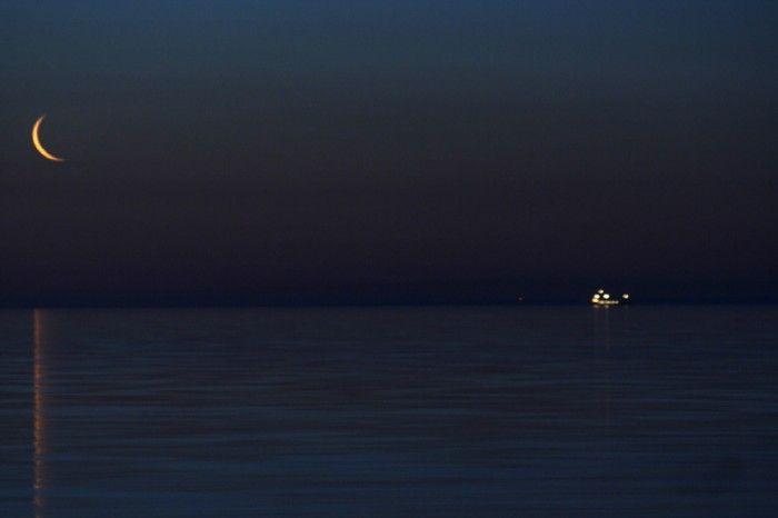 La Luna sobre el Lago Superior (Estados Unidos)