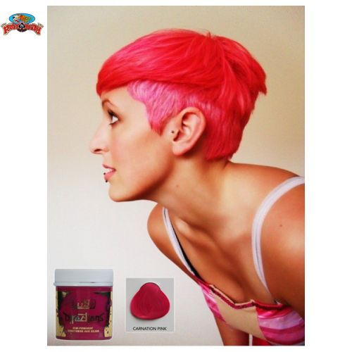 Pretty in pink! Check out this Carnation Pink Hair Colour by Directions at www.ruffnready.com.au #RuffnReadyaus #Directions #pink #carnationpink #hairColor #hairdye #rockabilly #hair