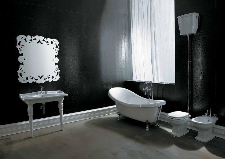 Lavabo console in ceramica stile classico, vasca freestanding Boheme Alice Ceramica. [www.viadurini.it]