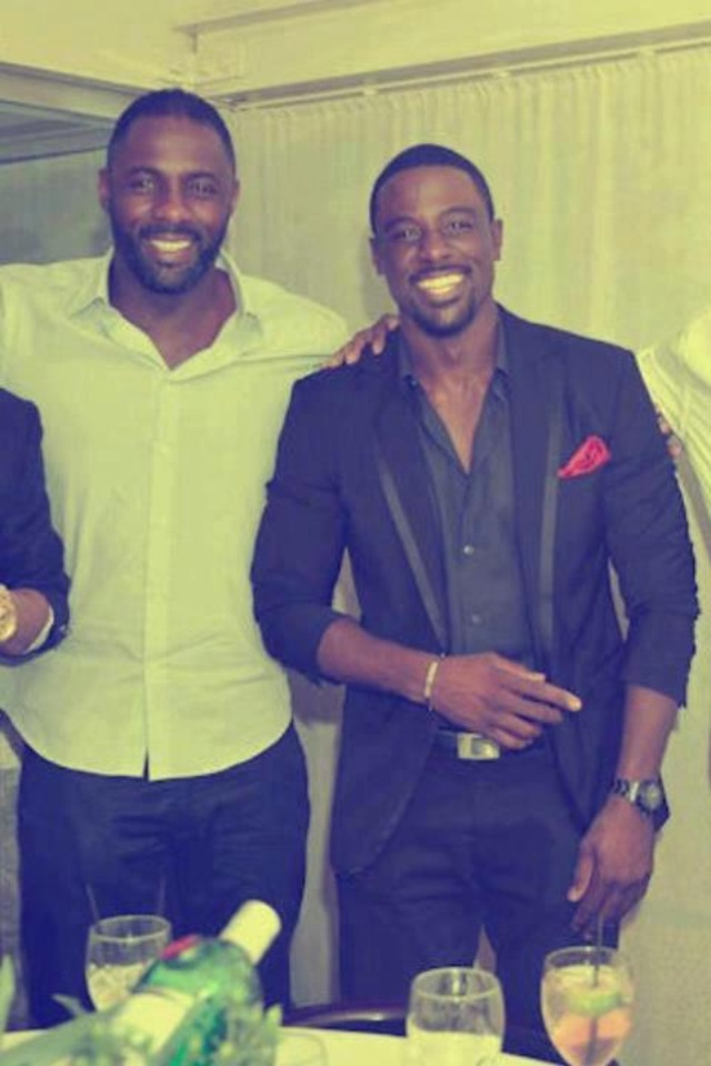 Dark chocolate eye candy!! Idris Alba and Lance Gross.