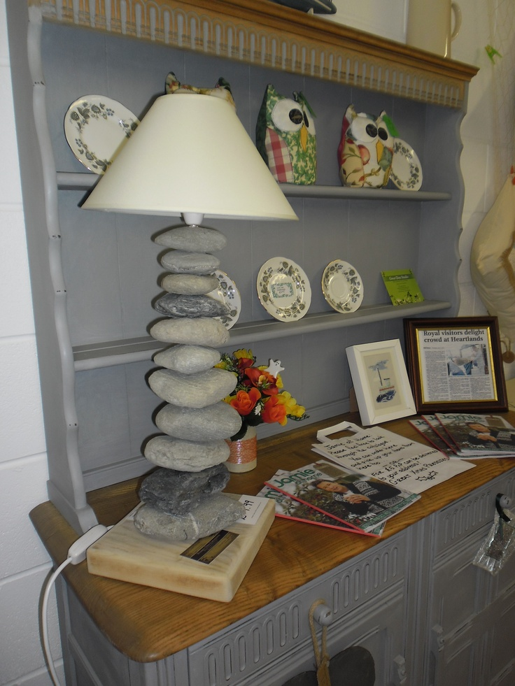HUGE pebble lamp made by wobbly dog creations in Redruth £59.99