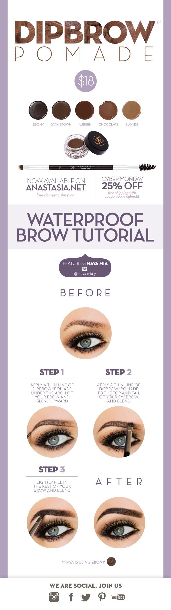 B7 brow brush and looking for light grey color  Anastasia Beverly Hills: DIPBROW IS HERE! Cyber Monday 25% Off! | Milled