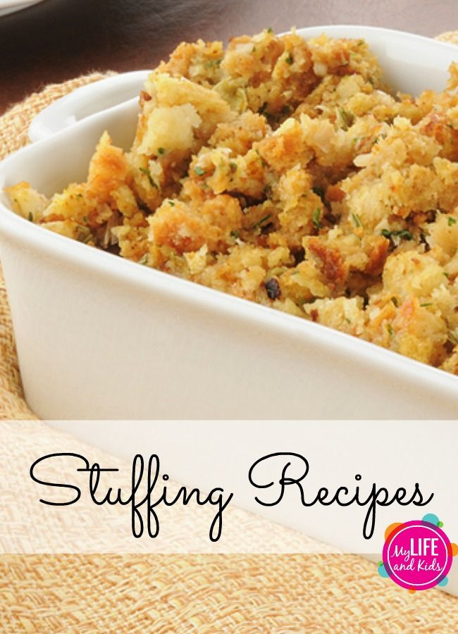 Looking for the perfect stuffing recipe? We've got you covered. From basic to brie – here are 20 Thanksgiving stuffing recipes you'll want to try today! @My Life and Kids