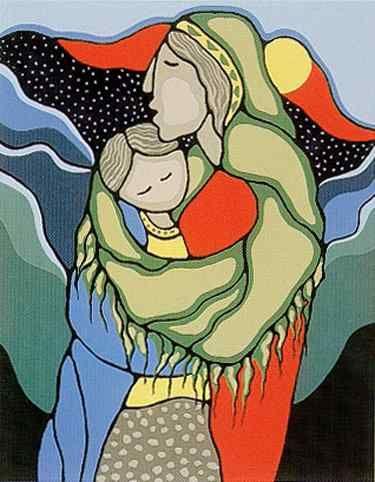 "Canadian Aboriginal artist ..DAPHNE ODJIG...(Potawatomi/Odawa)........ ""Enfolding"""