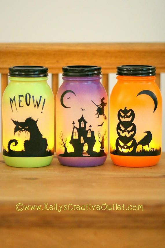 Halloween Decoration – Halloween Luminary – Spooky Decor – Halloween Decorations – Fall Decor – Haunted House – Black Cat – Pumpkin Decor