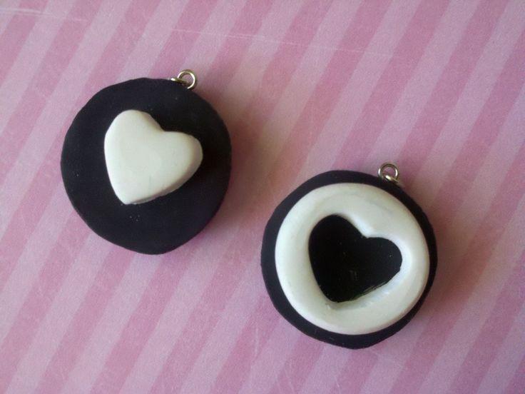 Mini Oreo Cookie BFF Polymer Clay Charm by KimberlysCraftCorner, $7.00