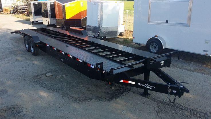 34' open car hauler trailer steel carhauler