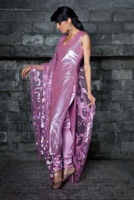 Designer Salwar Kameez in Rose | Strandofsilk.com - Indian Designers