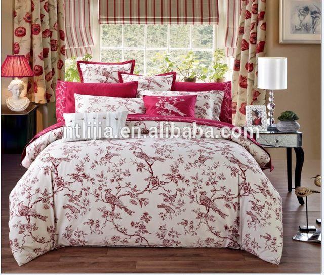 source kosmos jintian textile 100 cotton 4pcs printed bedding set super single bed set on