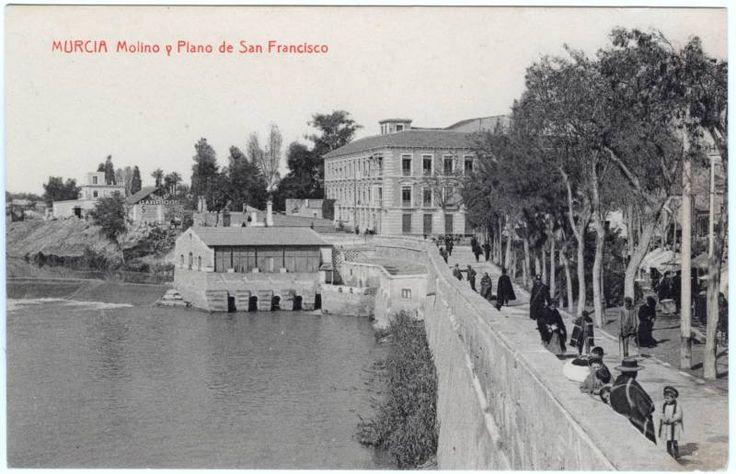 Murcia. Molino y Plano de San Francisco.  Fecha inicial:  c. 1911  Fecha final:  c. 1930