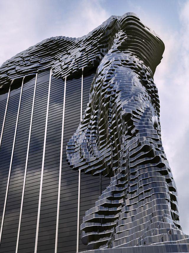 ルーブル美術館「サモトラケのニケ」のかたちをした『夢の高層ビル』が荘厳な完全美、素晴らしい   DDN JAPAN ※完成予想画像との事。実際に見てみたい。