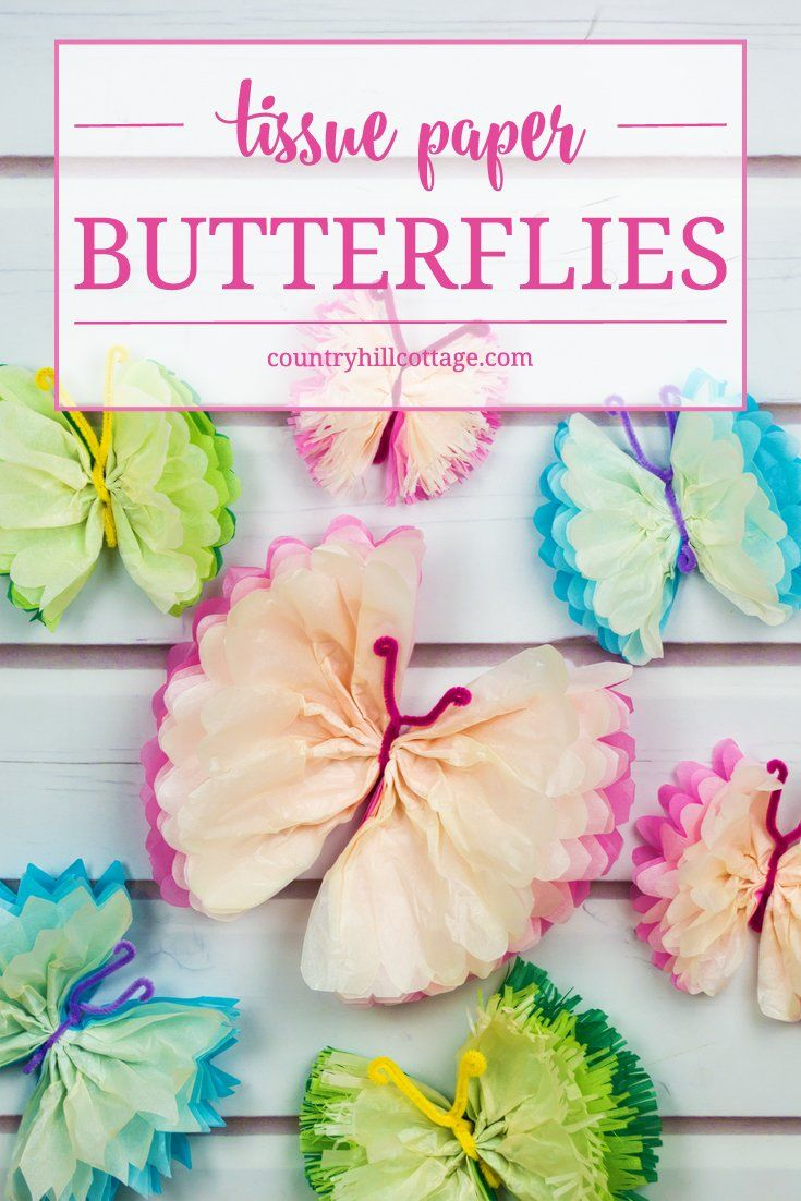 diy tissue paper butterflies | paper butterflies and tissue paper