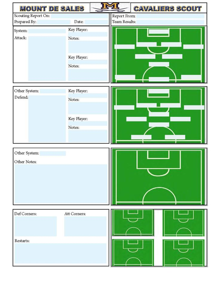 Soccer scouting template Other Designs Pinterest Template - foot ball square template
