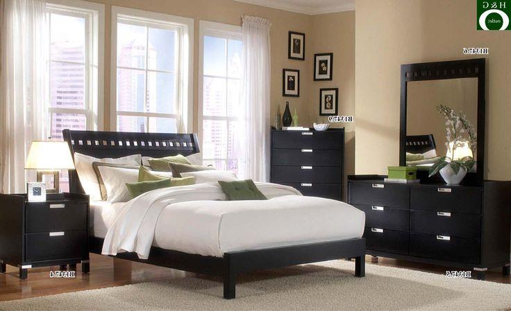 schwarze moderne  dunkle möbel schlafzimmer graue
