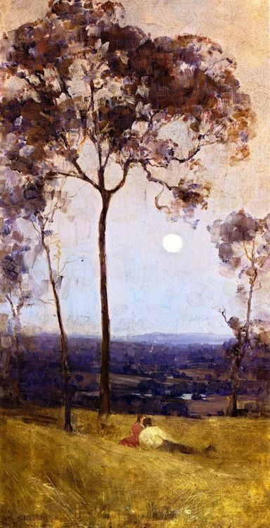"""Above us the Great Grave Sky"" Sir Arthur Streeton"