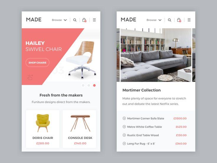 Made.com - Mobile website