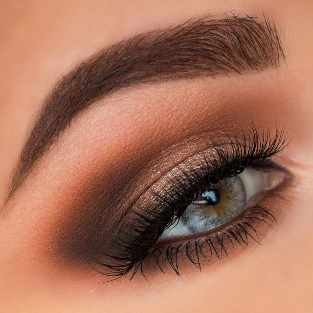 "Smokey eyesbrows- @anastasiabeverlyhills brow wiz and dip brow in chocolate eyeshadow- @makeupgeekcosmetics creme brule, cocoa bear, and mocha. @maccosmetics mineralize eyeshadow in natural vigor on lid. lashes- @esqido ""voila lash"" contacts- @desioeyes innocent white #Padgram"