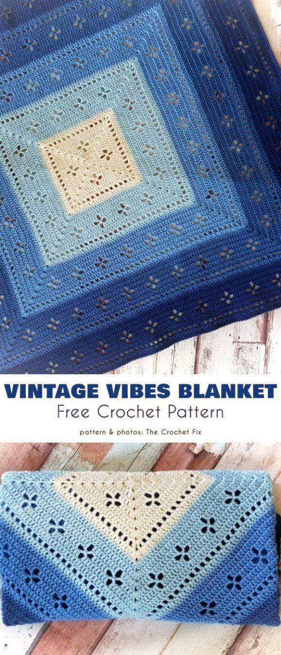 Pattern within Pattern Blanket Free Crochet Patterns