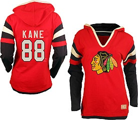 Old Time Hockey Chicago Blackhawks Patrick Kane Women's Avalon Hooded Long Sleeve T-shirt - Shop.NHL.com