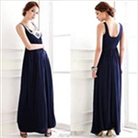 Female Sequins Embellished Sleeveless Maxi Dress Full Dress Evening Dress with Sequins for Party Banquet