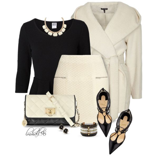 Christian Louboutin by lmhall96 on Polyvore featuring Vero Moda, Exclusive for Intermix, Whistles, Christian Louboutin, DKNY, Vince Camuto, Oscar de la Renta, christianlouboutin, dkny and coat