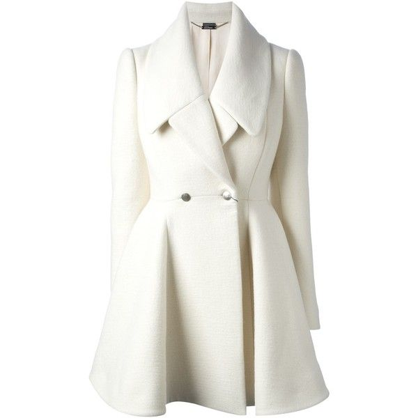 ALEXANDER MCQUEEN double breasted coat found on Polyvore
