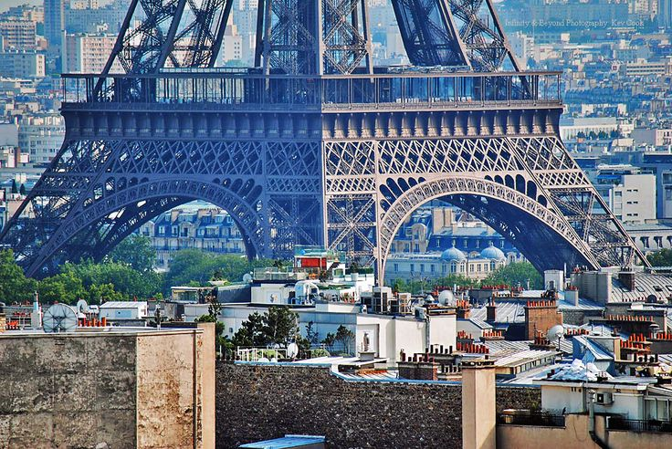 https://flic.kr/p/axAdAh | Tour d'Eiffel | You can really appreciate the massive size of the base of this iconic structure, nestled among the surrounding buildings.