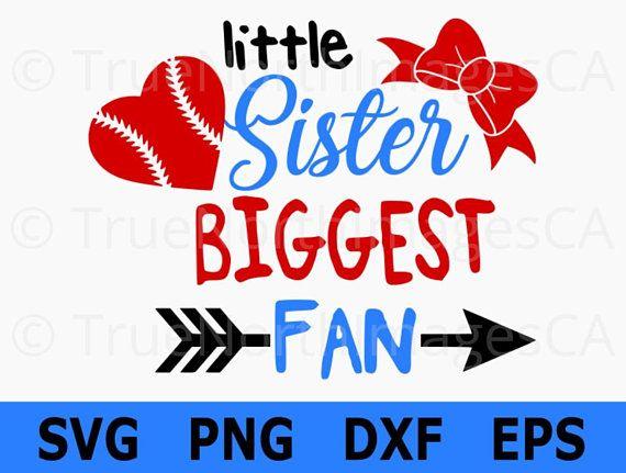 little sister biggest fan svg   baseball sister svg clip art fantastic job clip art fancy letters