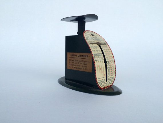 1930s 1 lb. postal scale by sageNsilver on Etsy