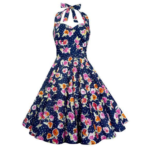 Lady Mayra Vivien Polka Dot Floral Dress by LadyMayraClothing