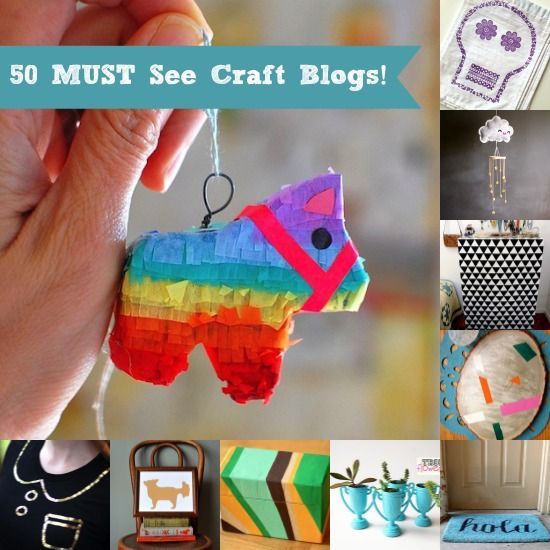 50 Amazing Craft Blogs You Have to See - A Lot of Mod Podgers on This List!
