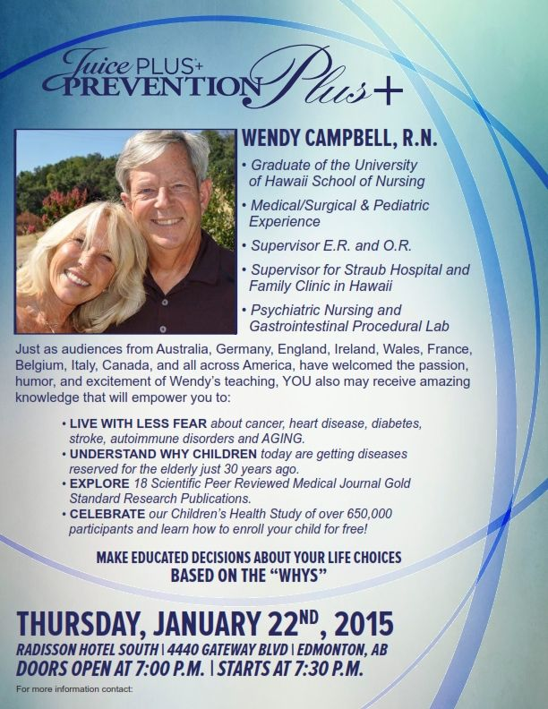Join Wendy Campbell Thursday, January 22, 2015 Cant be missed!  Be Inspired! #JPCANADA