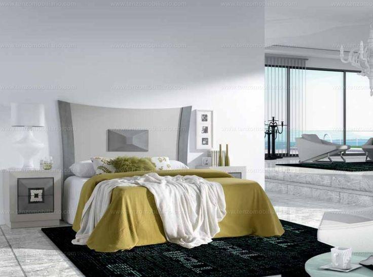 Dormitorio y mesitas de la colección Winter