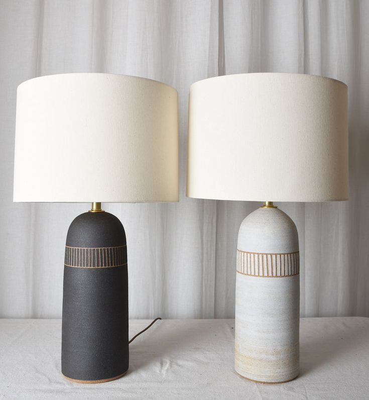 Tall etched lamps | Lamp, Table lamps for bedroom, Ceramic ...