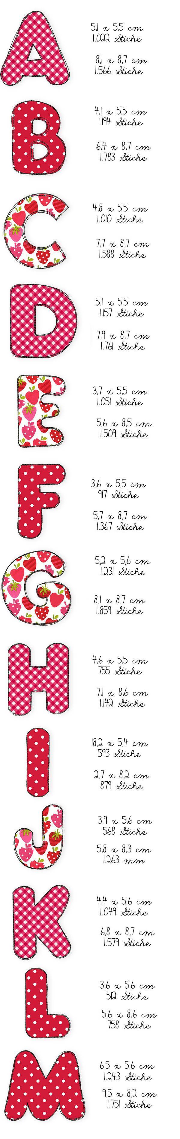 Der Stickbär | Designbeispiel: Doodles ABC