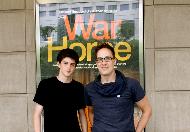 13 year old, Nate, interviews James Duncan, one of the stars of War Horse. James is Joey, the horse, in the show.