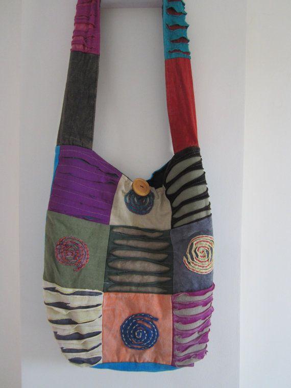 crossbody patchwork hippie bag hippy bag om by elephantsofindia