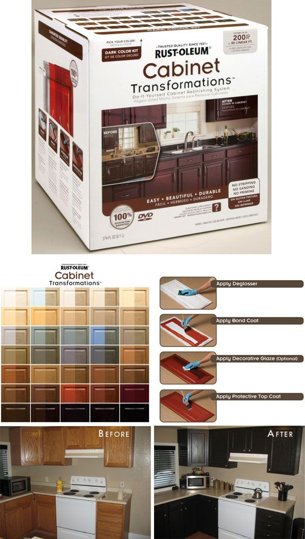 "Transforming Your Kitchen Cabinets {and More!} with Rust-Oleum's Product ""Cabinet Transformations"". Full Step-by-Step Tutorial plus tips by a real user."