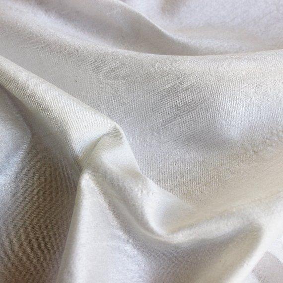 Ivory Art Silk Fabric By The Yard Silk Curtain Fabric Apparel Fabric Silk Dupioni Fabric Indian Silk Fabric By The Yard