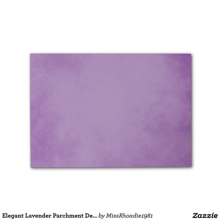Elegant Lavender Parchment Design Post-it® Notes  These elegant lavender parchment design post it notes are gracefully beautiful and perfect for jotting down thoughts throughout the day. Displaying a purple parchment design, the colors are soft and vibrant. Purchase yours today! #postitnotes