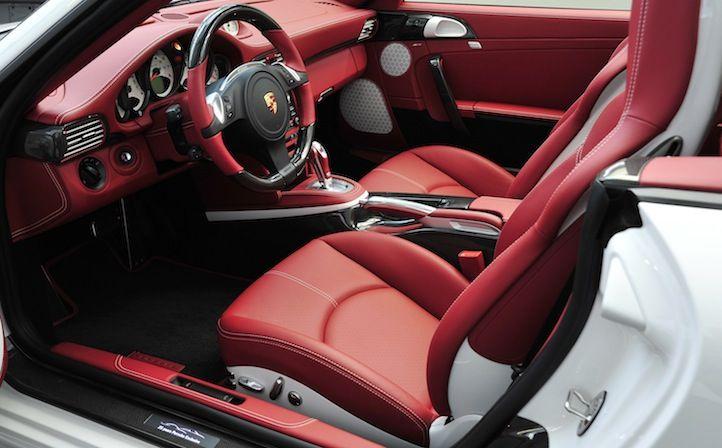 911 Turbo Cabriolet In Carrera White With Carrera Red White Black Interior Clr Blackredwhite