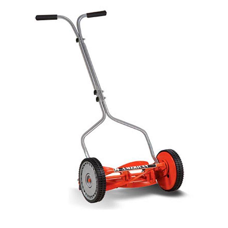 "EARTHWISE American Adjustable Push Lawn Mower 14"""