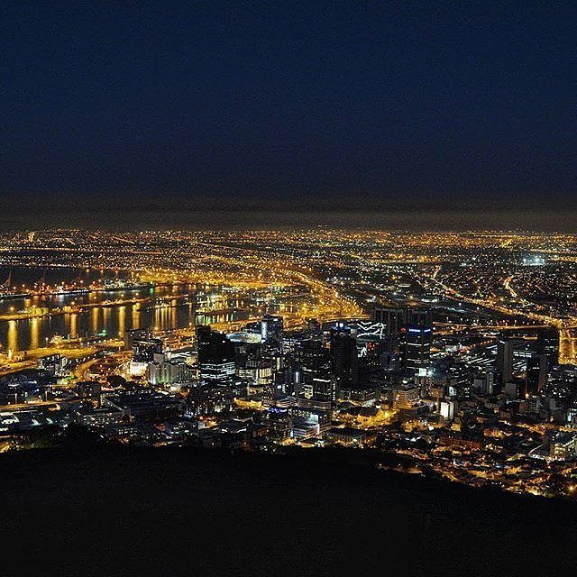"""@gerhardmyburgh """"Another view from Signal hill. First time out shooting night scenery."""" _______________________________ If you'd like to see your images being featured here just use #capetownmag - We really enjoy sharing your shots of all the different aspects of the Mother City and the rest of the Western Cape."""