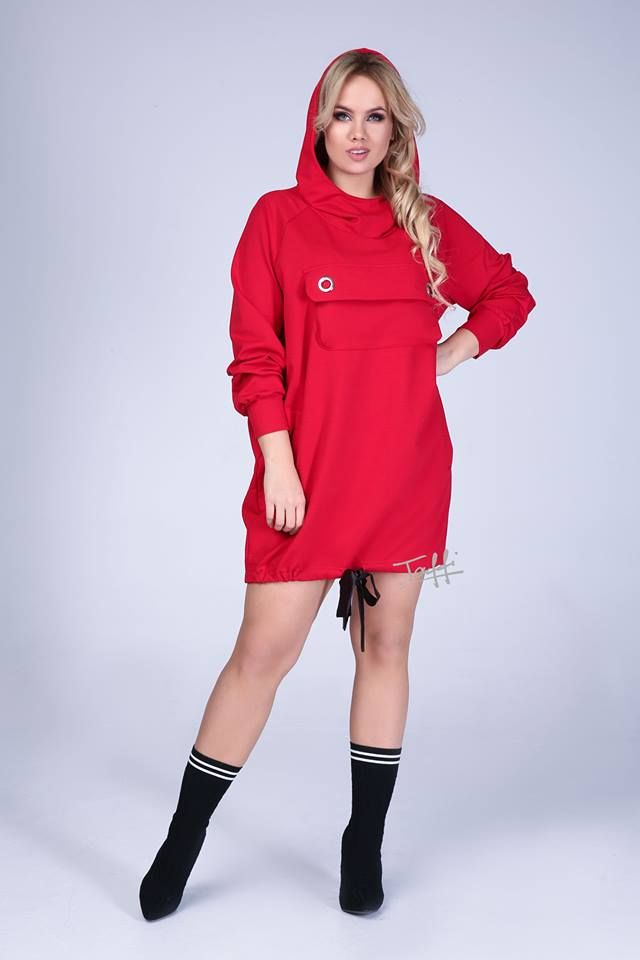 ef953a6046 Bluza Bebe czerwona oversize Taffi