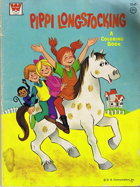 Pippi Longstocking | 1975 Pippi Longstocking coloring book cover Whitman | Flickr - Photo ...