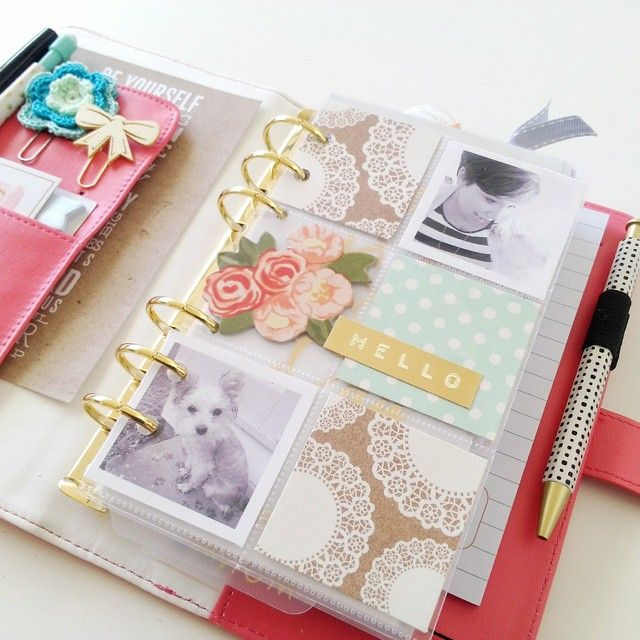 Made a little pocket page for my #planner yesterday. Love that I can switch it out for the holidays and use my favorite photos. Love the personal addition to the planner.