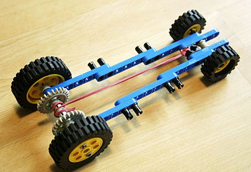 Image Detail For Basic Rubber Band Car Under Construction