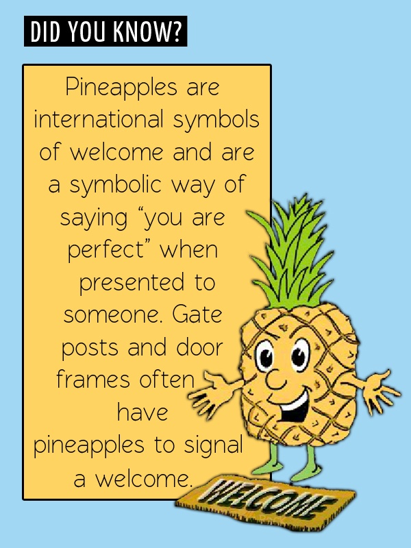 Fun Food Facts Pineapples Welcome Fun Food Facts