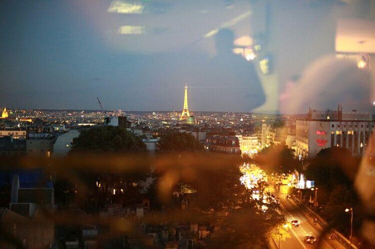 Depuis le restaurant Terass'hotel à Montmartre