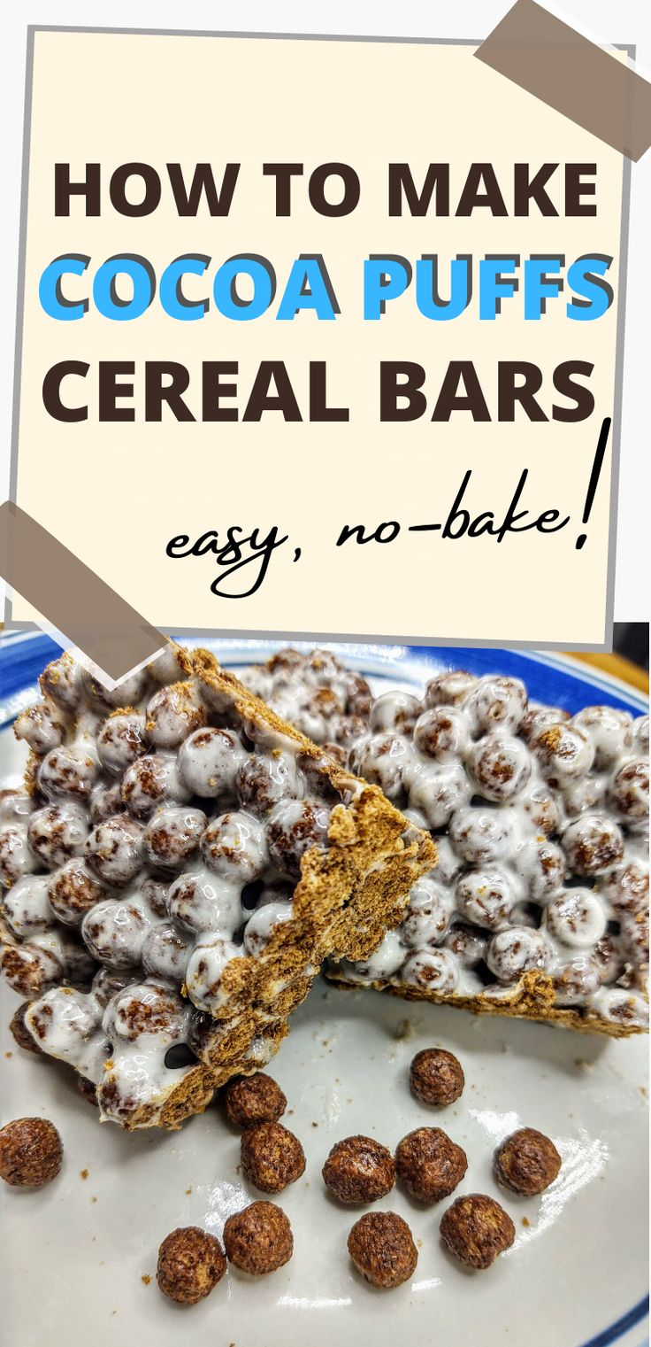 Cocoa puffs cereal bars how to make rice crispy treats